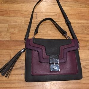Purse Brown with burgundy Brand New Without tag